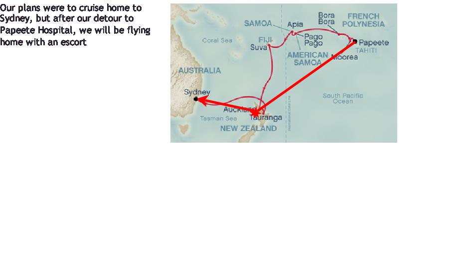 Tahiti Sydney